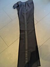 H&M Hennes Black Trousers With Satin Trim  Detailing size 34  8 Flares