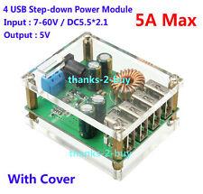 5A DC-DC Buck Step Down Regulator Module 60V 48V 36V 24V 12V 9V to 5V 4USB Power