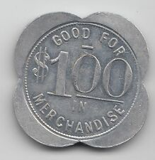 R J Ottersberg Genl Mdse Good For $1 one dollar trade token - Johnson NE - 498