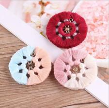 2pcs Cotton Tassel jewelry making accessories Wheel Shape pendant Decoration