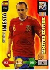 Panini Adrenalyn XL World Cup Andres Iniesta Limited Edition 2010 South Africa