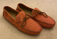 Cole Haan Orange Men's Loafers Shoes Size 10 Canvas & Leather