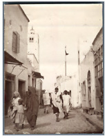 Tunisie, Tunis  Vintage citrate print.  Tirage citrate  9x12  Circa 1900