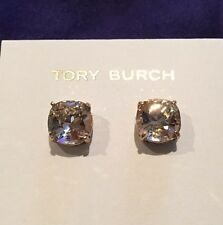 Tory Burch Crystal Stud Earring - Vintage Rose/Tory Gold (NWT)
