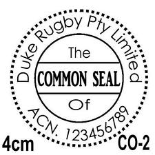 Personalised Custom Self Pre ink Common Seal Company Stamps 40mm CO-2