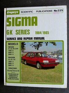 "Mitsubishi SIGMA "" GK series "" 1984 to 1985 SERVICE and  REPAIR MANUAL"