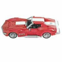 CHEVROLET Corvette 1969 Car auto static Brick Block Moc Technic Lego compatibile
