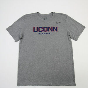 UConn Huskies Nike Dri-Fit Short Sleeve Shirt Men's Gray/Heather New with Tags