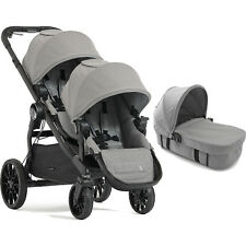 BABY JOGGER SLATE CITY SELECT LUX TANDEM PUSHCHAIR DOUBLE STROLLER & CARRYCOT