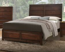 California King Bed Modern beautiful Panel Headboard Footboard Bedframe Bedroom