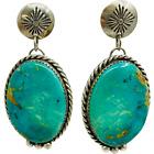 Southwest Sterling Silver & Turquoise Vintage Drop Dangle Earrings