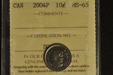 Canada 2004P Dime 10 Cent - ICCS - MS65 -