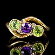 Antique Victorian Suffragette Twist Ring 18ct Gold Circa 1900