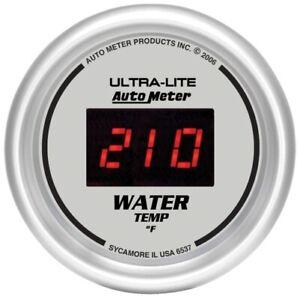 "Auto Meter 6537 2-1/16"" Ultra-Lite Digital Water Temperature Gauge 0-340 °F NEW"