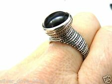 Vintage, Retired James Avery Tall Profile Beaded Onyx Ring Rare