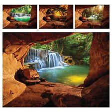 Vlies Fototapete Wasserfall Landschaft Optik 3D Effekt Wohnzimmer Wandtapete XXL