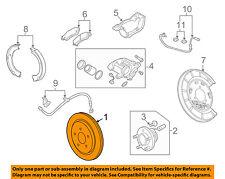 Chevrolet GM OEM 10-15 Camaro Rear Brake-Rotor 23132528