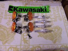 KAWASAKI H1/KH500 COMPLETE REPLACEMENT TURN SIGNAL/SIGNALS/STALKS SET-NEW ITEM