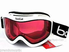 BOLLE medium-large MOJO Ski Snowboard Goggles Shiny White/ Vermillon CAT.2 20574