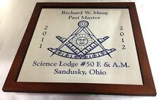 Laser Engraved Masonic Past Master Framed Mirror