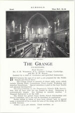 1932 School The Grange Folkestone Mr Wodeman Ad