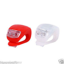 20 PCES Waterproof SILICON LED BIKE LIGHT SET 2LED Front +Rear Safety Light