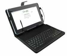"""10.1"""" USB Keyboard PU Leather Case Cover For Toshiba Thrive AT100 AT105 Tablet"""