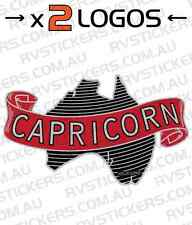 2 x CAPRICORN Caravan decal, sticker, vintage, retro, graphics