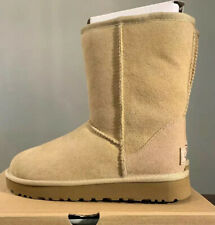 UGG CLASSIC SHORT II 1016223 SAND SIZE 6 WOMAN'S BOOTS AUTHENTIC BRAND NEW**