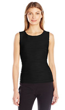 NWT Calvin Klein Women's Sleeveless Wavy Knit Top Color: Black Size: XS