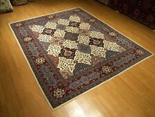 8x10 Hand Knotted High Quality Wool & Silk Pak Tabriz Rug - Excellent Condition