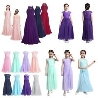 Flower Girls Dress Princess Wedding Bridesmaid Birthday Pageant Party Maxi Gowns
