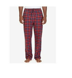 NWT Nautica Men's Big and Tall Red Plaid Lightweight Sueded Fleece Pajama 2XLT