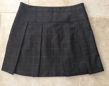 BNWOT Women's Next Brown Pleated Work/Office A-line Skirt, size 12