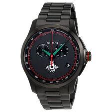 Gucci G-Timeless Chronograph Black Dial Mens Watch YA126269