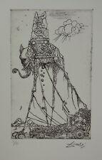Limited edition etching, Surrealism Elephant, signed Salvador Dali w DOCS