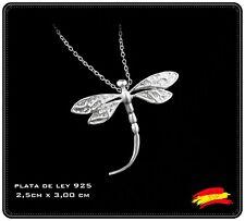 Collar Colgante Libelula Dragonfly Plata 925 con Cadena. Elegante Regalo Mujer