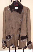 NIGEL PRESTON Shearling Sheepskin FREE PEOPLE Style Coat Jacket Sz.L SPECTACULAR