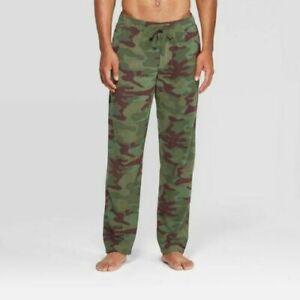 Men's Pants Small Camo Print Microfleece Pajama Pants - Goodfellow & Co. Green