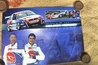 2004 HOLDEN HEROES RACING POSTER SUPERCARS V8 RICK KELLY & GREG MURPHY
