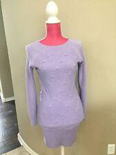 Neslay Designer Purple Sweater Dress Size S-M Soft