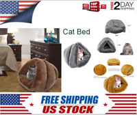 Soft Self-Warming Cat Bed Pet Kennel Nests Plush Cave Cozy House For Dog Sleep