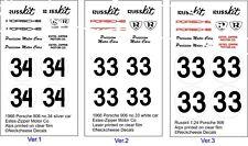 1:24 Decals for  Zipper - Russkit Porsche 906  SEE TEXT 3 versions