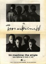 17/8/91 Pgn02 Advert: Tim Machine New Single you Belong In Rock N Roll 15x11