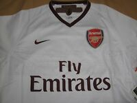 df2a28b7a43 Rare Nike Dri Fit Arsenal White Away Jersey for 2007-08 09 Season Jersey  Size