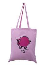 Nuevo Bolso: cerdo, rosa claro, 100% algodón