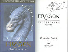 Christopher Paolini SIGNED AUTOGRAPHED Eragon ARC GALLEY 1st Ed/1st Print NEW