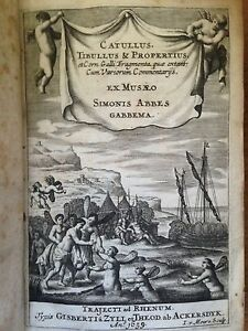 1659, Catullus, Tibullus et Propertius-UTRECHT