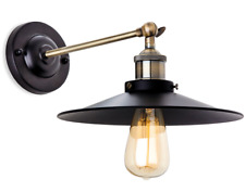 Firstlight Ashby Wall Light - Light Fitting Black with Antique Brass Pendant New
