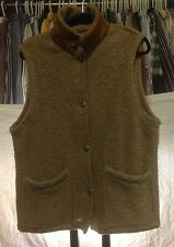 Women's Woolrich Beige Wool Blend Button Up Vest Made in USA Size Large